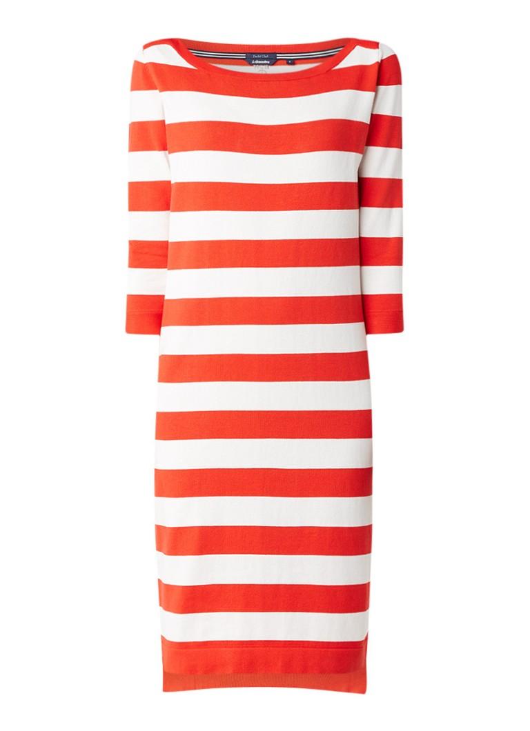 Gaastra Aile fijngebreide jurk in zijdeblend met streepdessin rood