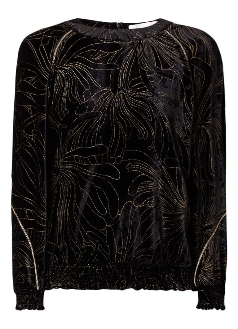 Chloé Sweater van fluweel met bloemenprint