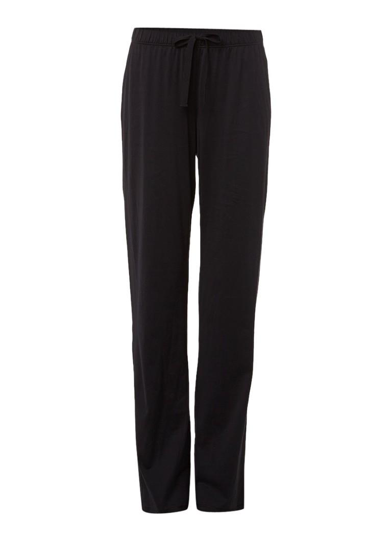 Hanro Zwarte pyjamabroek Cotton Deluxe