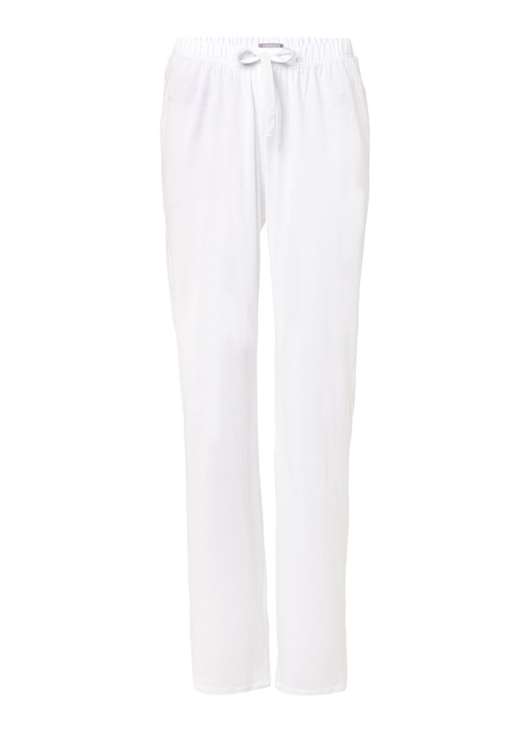 Hanro Witte pyjamabroek Cotton Deluxe
