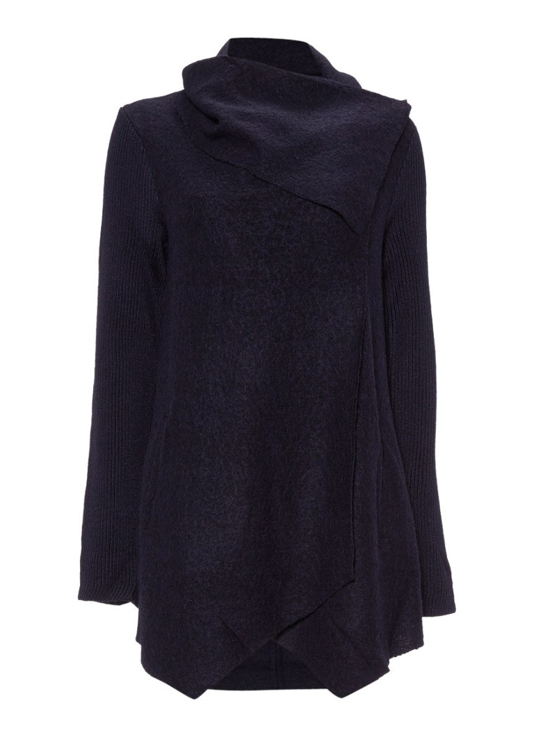 Phase Eight Bellona vest in donkerblauw wit