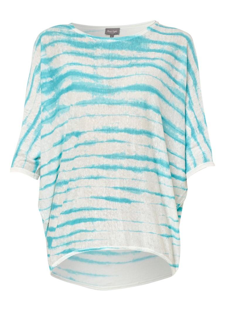 Phase Eight Brunetta fijngebreide top met tie dye-dessin wit
