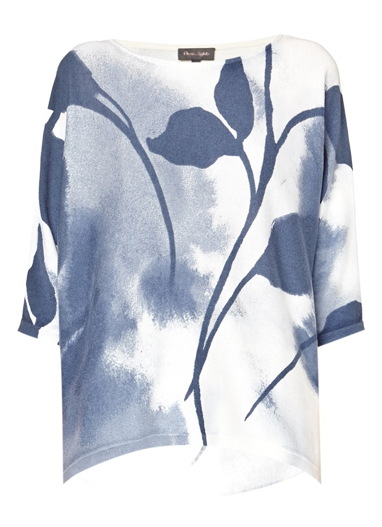 Phase Eight Allie oversized pullover met dessin wit