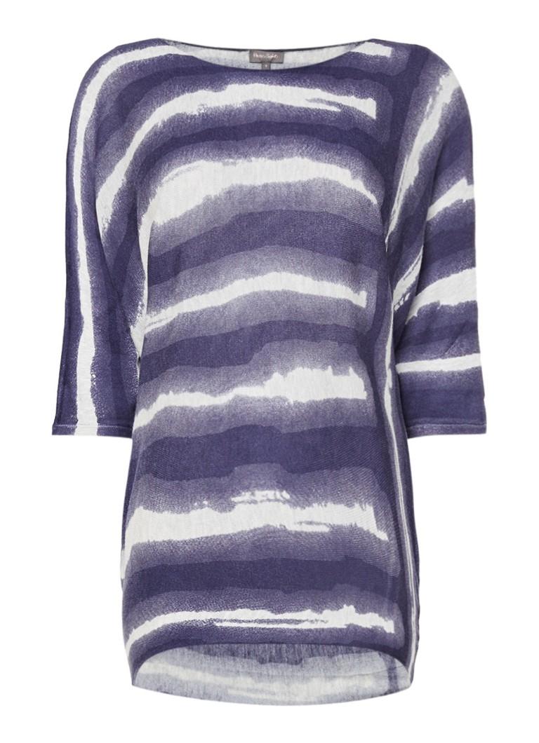 Phase Eight Becca top met tie dye-dessin en vleermuismouwen wit
