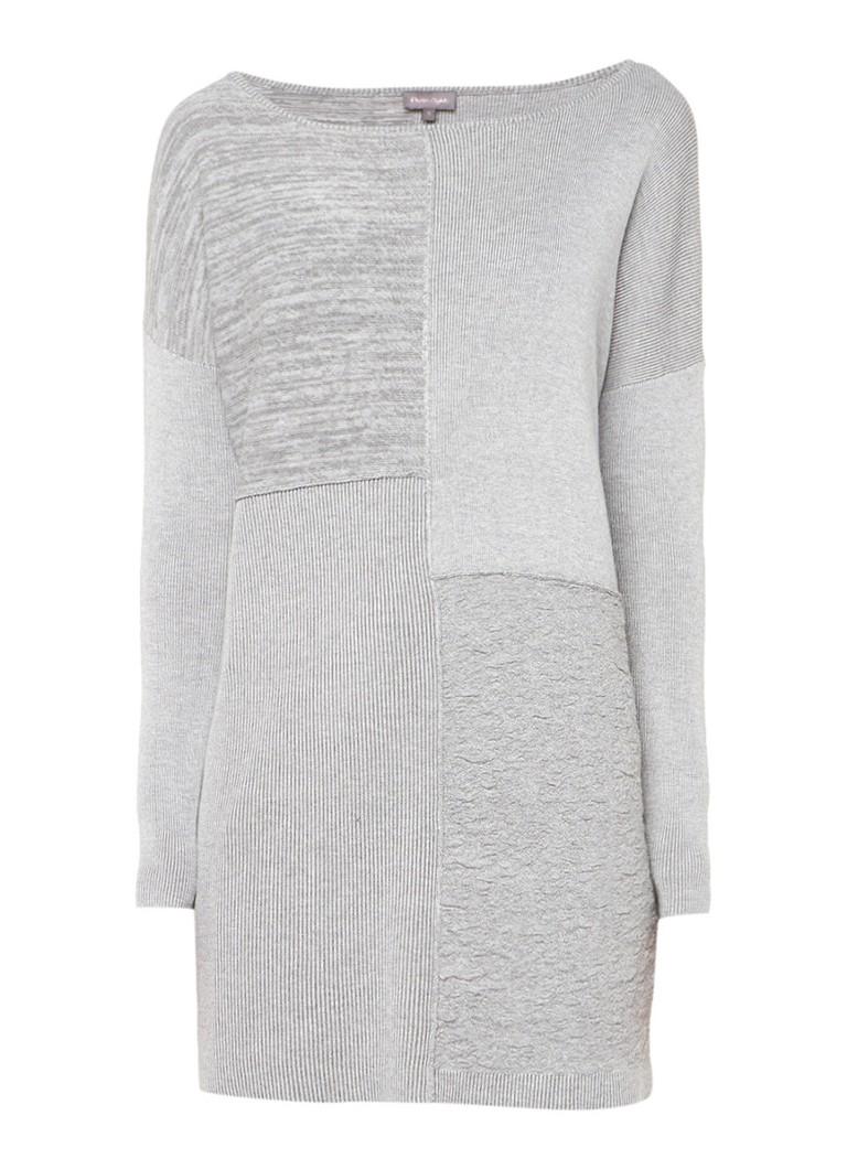 Phase Eight Fijngebreide trui met patchwork dessin wit