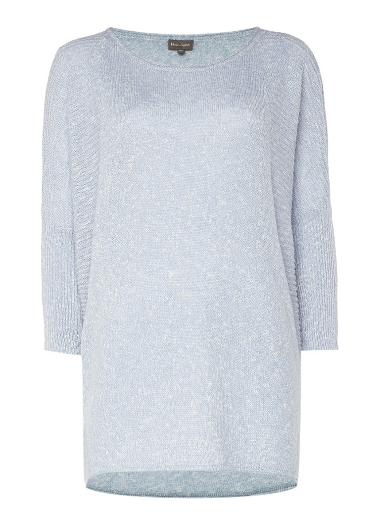 Phase Eight Aideen-Jane gemêleerde trui in katoenblend wit