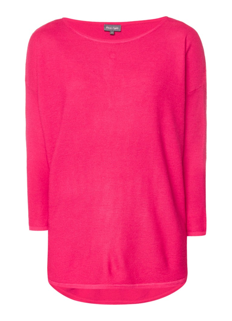 Phase Eight Megg pullover in wolblend met lang achterpand wit