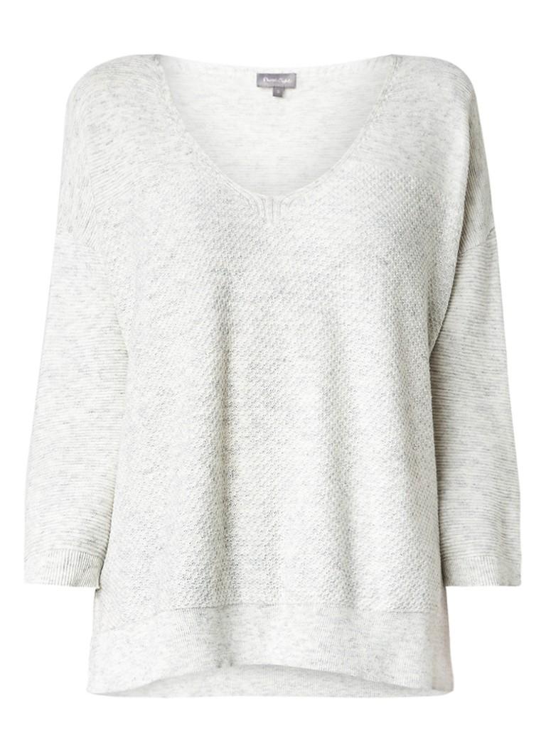 Phase Eight Rosabelle gemêleerde pullover met V-hals wit
