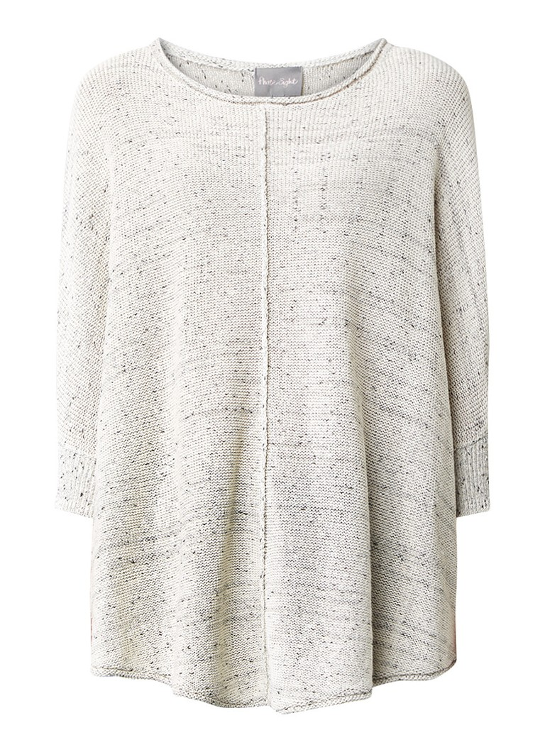 Phase Eight Consolata oversized top in mêlée wit
