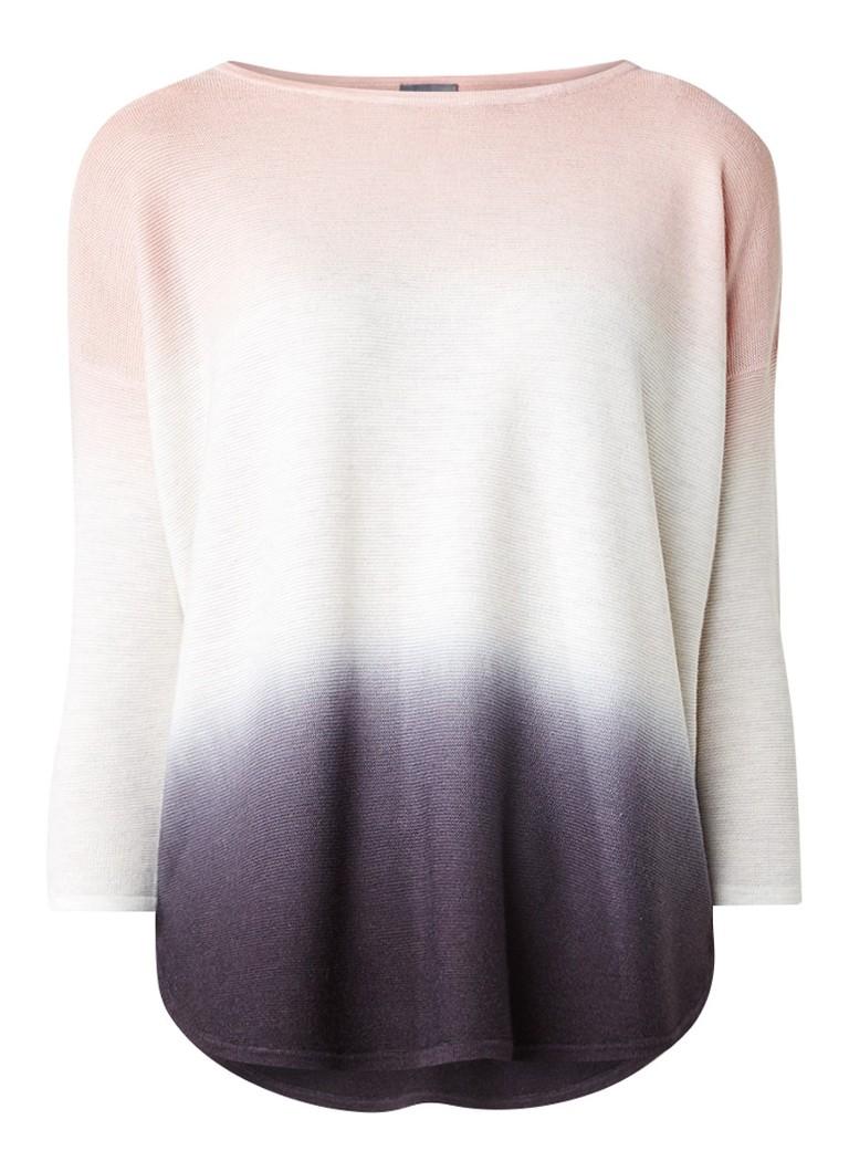 Phase Eight Lynda fijngebreide top met ombre wit