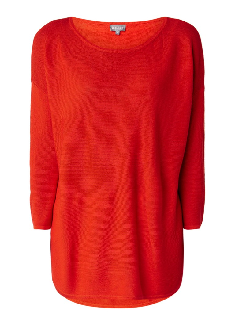 Phase Eight Megg loose fit pullover met cropped mouw