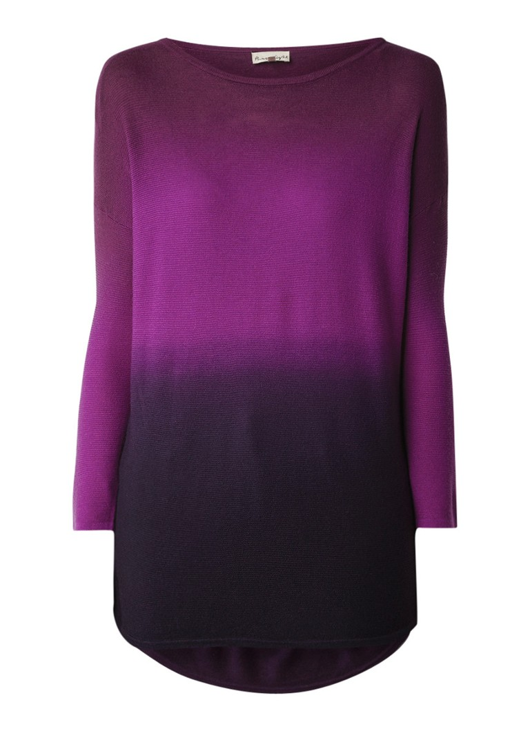 Phase Eight Lynda lange pullover met dip dye effect