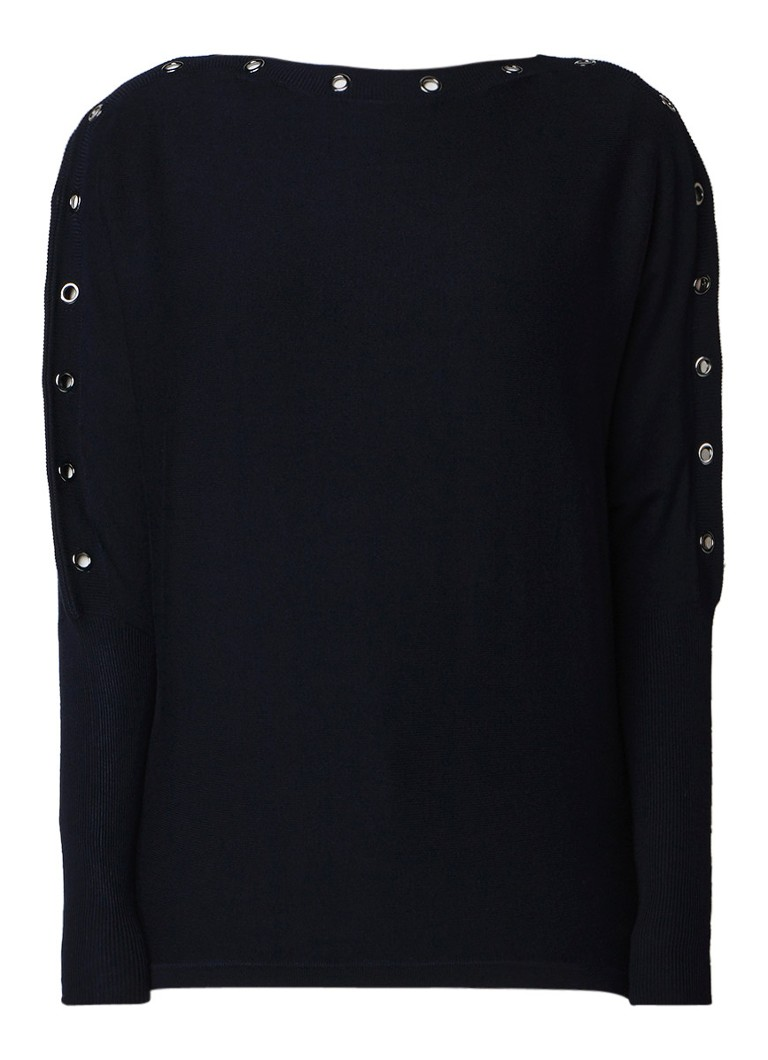 Phase Eight Esther loose fit pullover met eyelet detail
