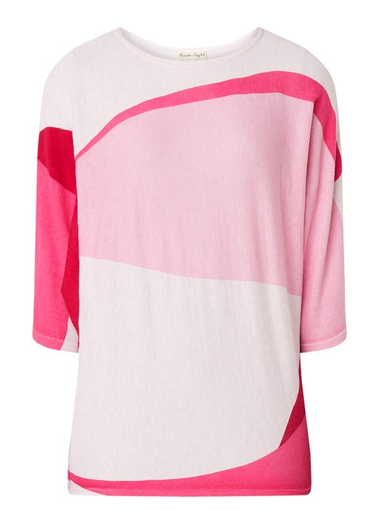 Phase Eight Carly fijngebreide pullover met colour blocking