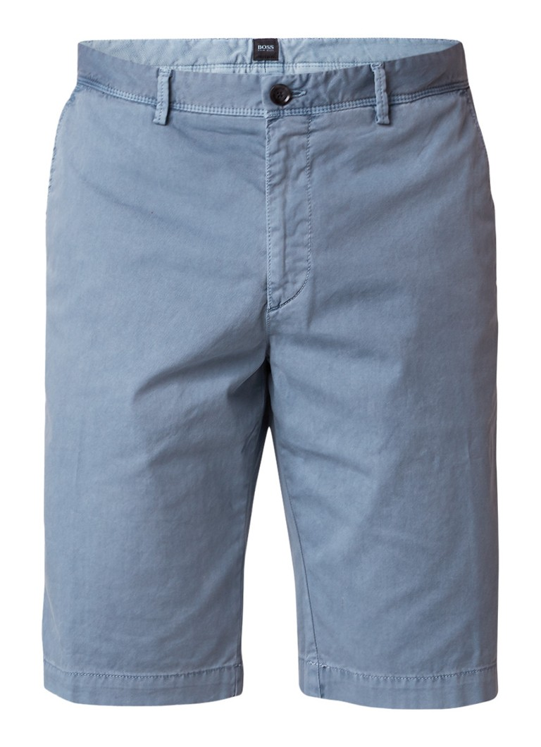 HUGO BOSS Rigan denim regular fit shorts met stretch