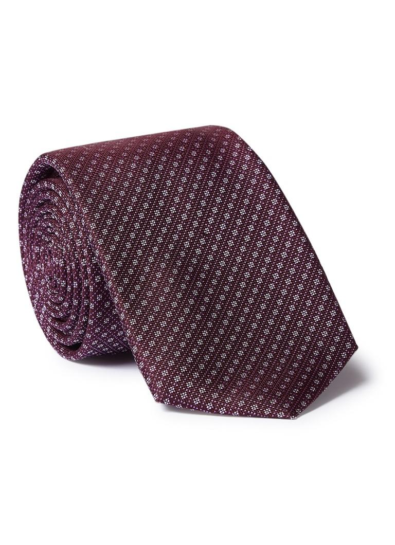 HUGO BOSS Travel stropdas van zijde met dessin