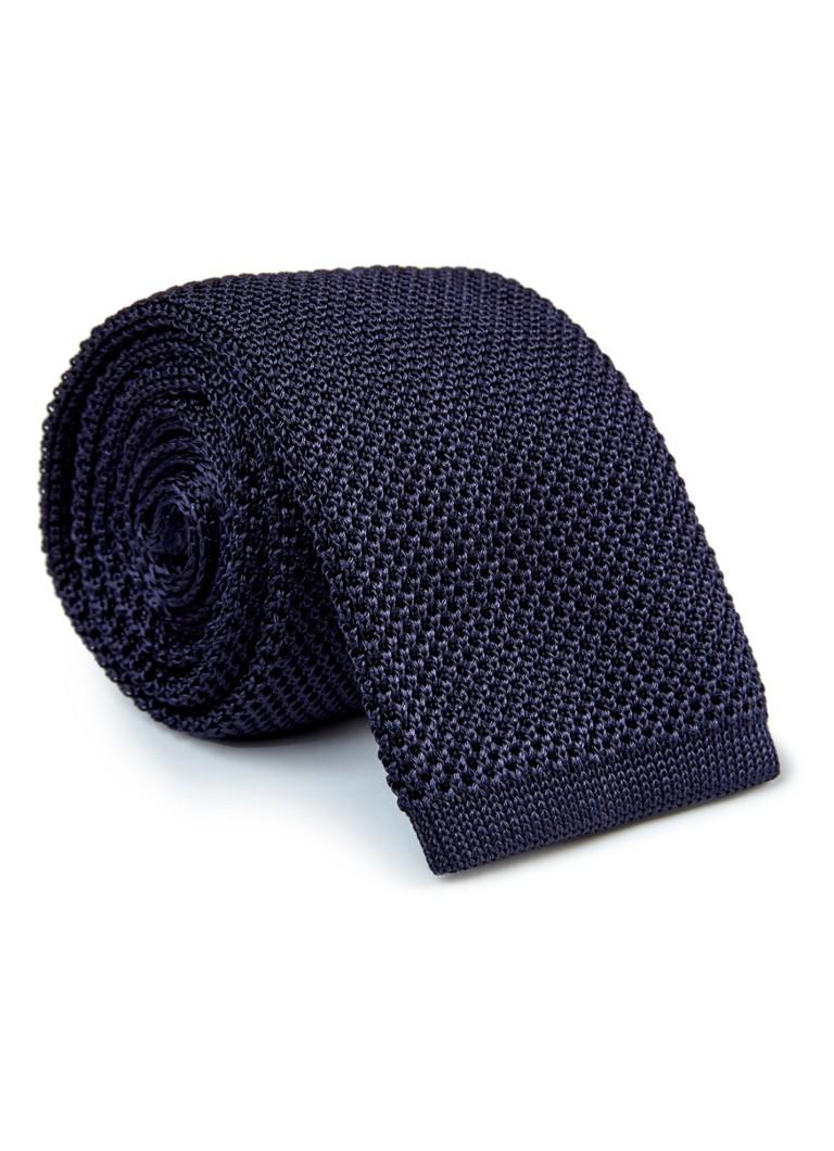 HUGO BOSS Gebreide stropdas van zijde