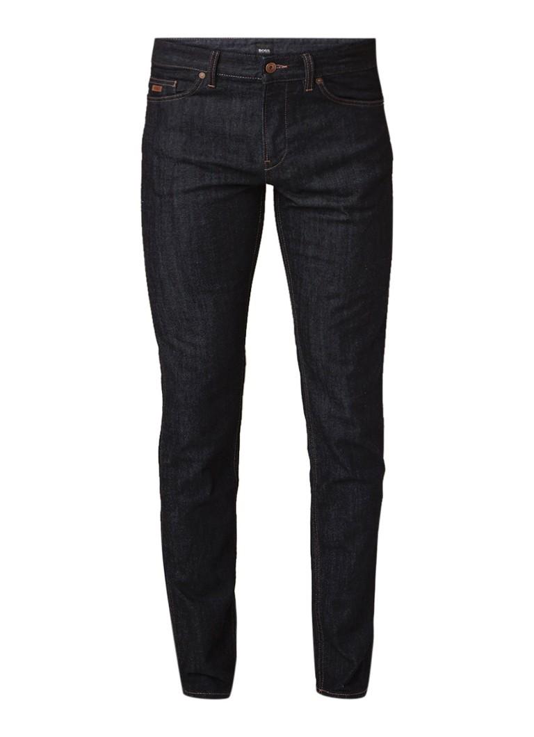 HUGO BOSS Delaware3 slim fit jeans met donkere wassing