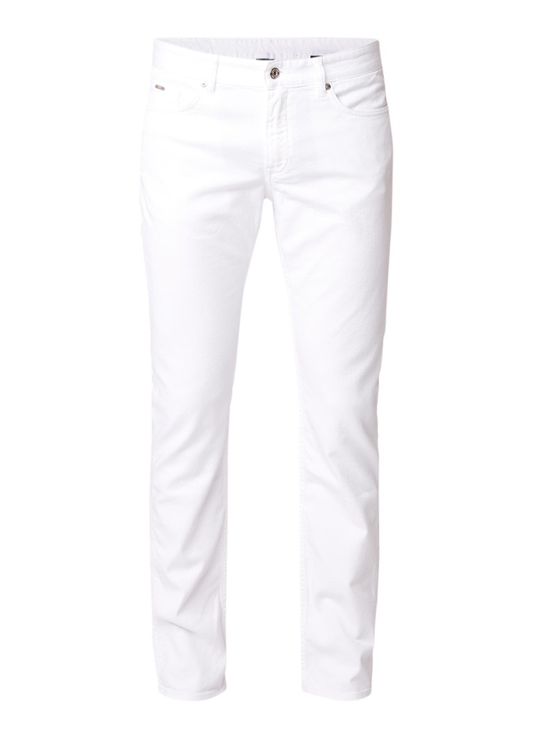 HUGO BOSS Delaware3 slim fit jeans in gekleurde wassing