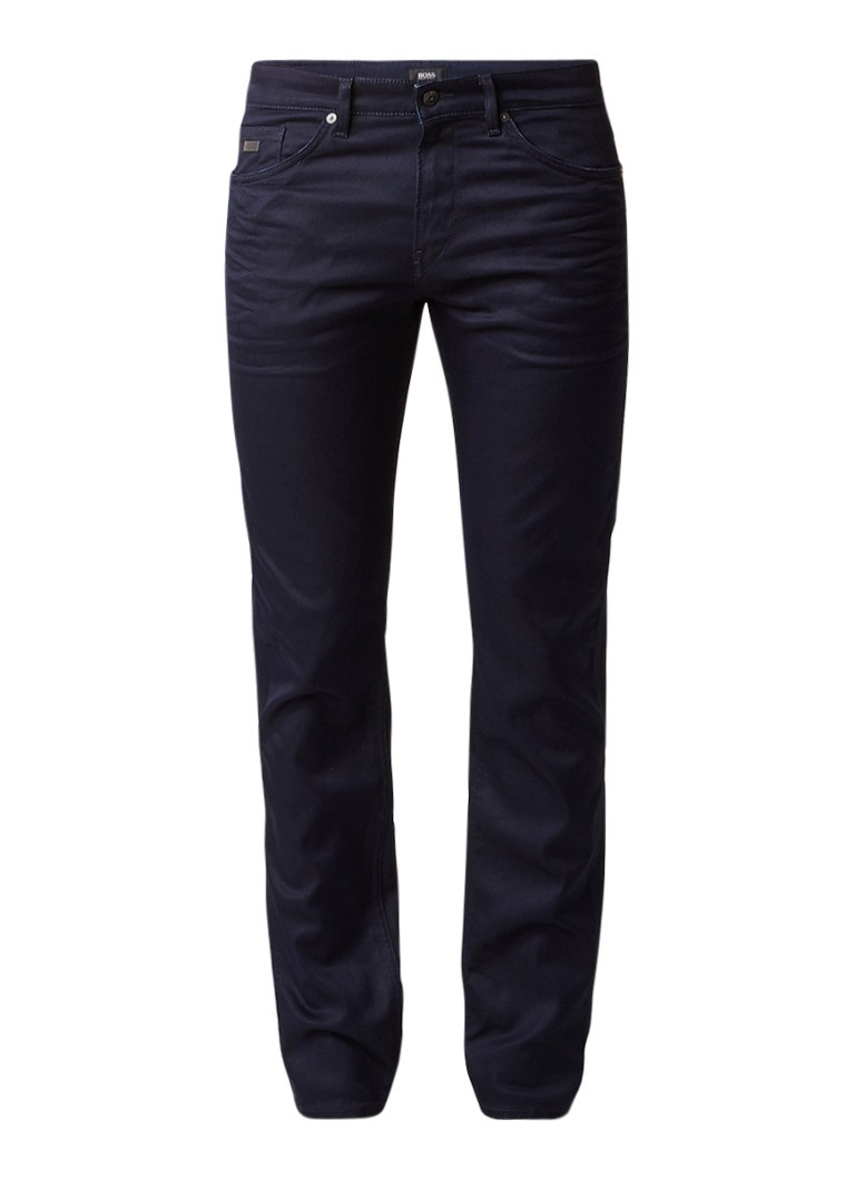 HUGO BOSS Delaware3 slim fit jeans in donkere wassing