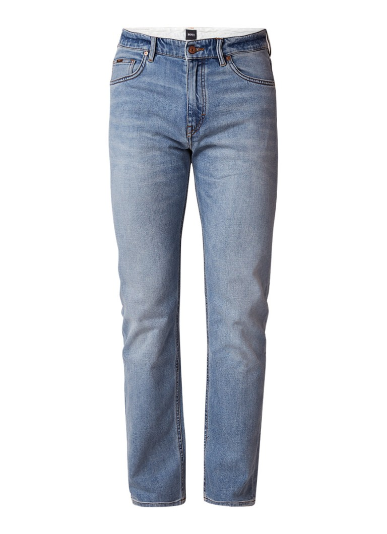 HUGO BOSS Albany loose fit jeans met lichte wassing