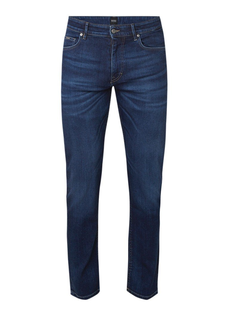 HUGO BOSS Albany straight fit jeans met stretch