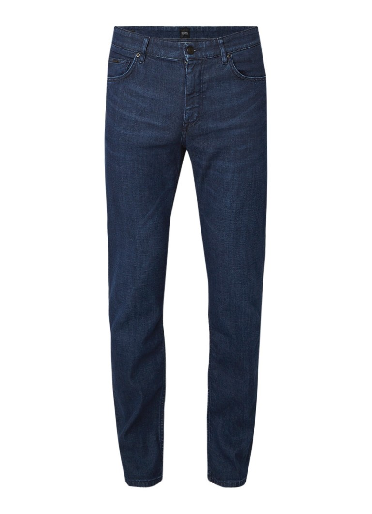 HUGO BOSS Albany relaxed fit jeans met donkere wassing