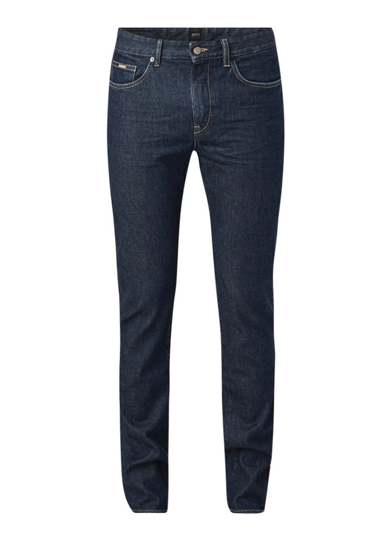 HUGO BOSS Delaware3-1 slim fit jeans van ongewassen denim