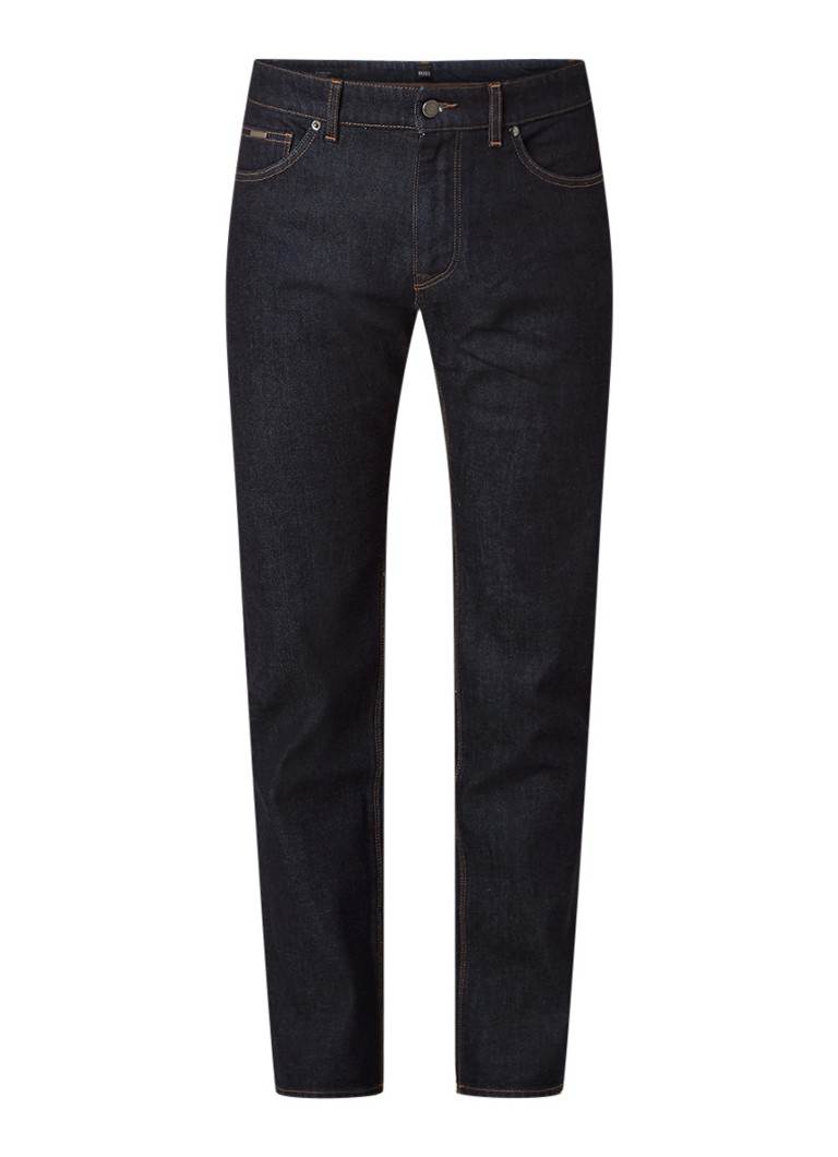 Hugo Boss Maine3 straight fit jeans met donkere wassing