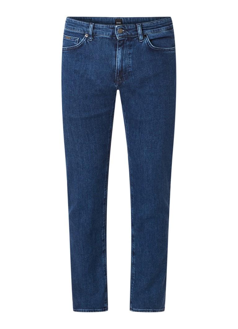 Hugo Boss Maine3 straight fit jeans met medium wassing
