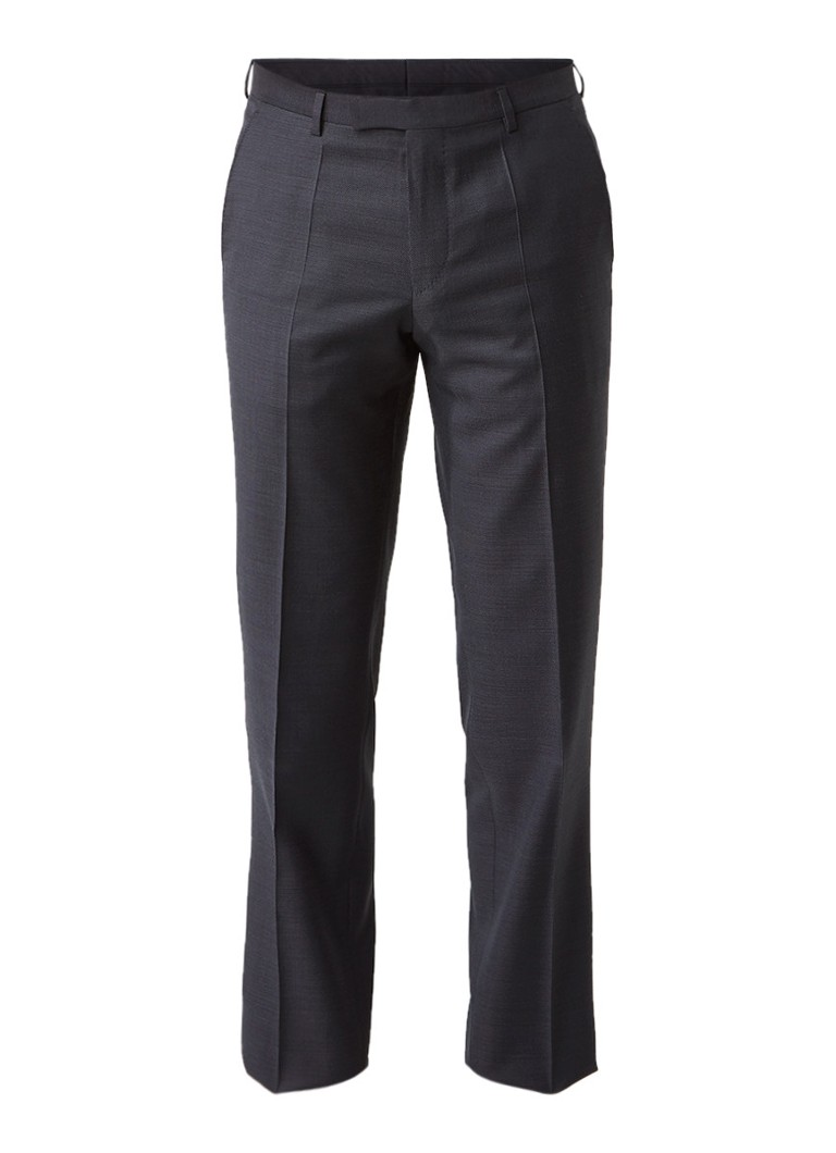HUGO BOSS Lenon straight fit pantalon van wol