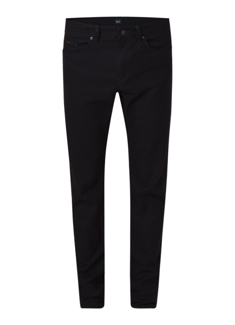 HUGO BOSS Delaware3 slim fit jeans met stretch en structuur