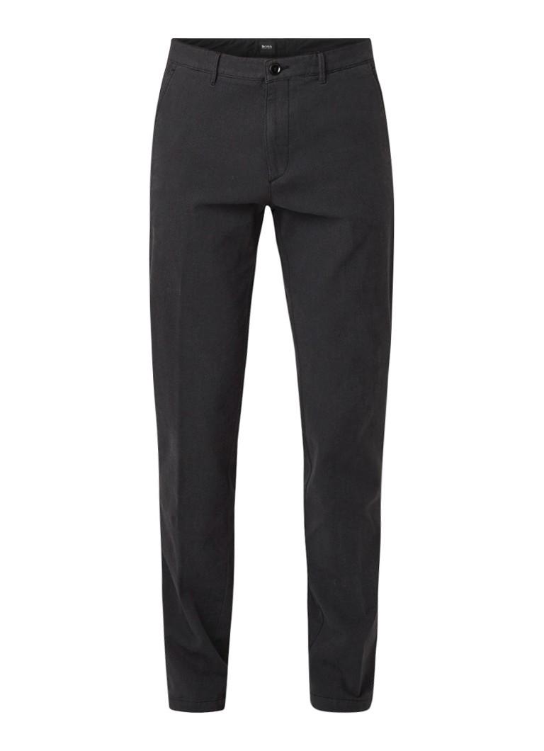 HUGO BOSS Crigan3-W slim fit pantalon met birdseye dessin en stretch