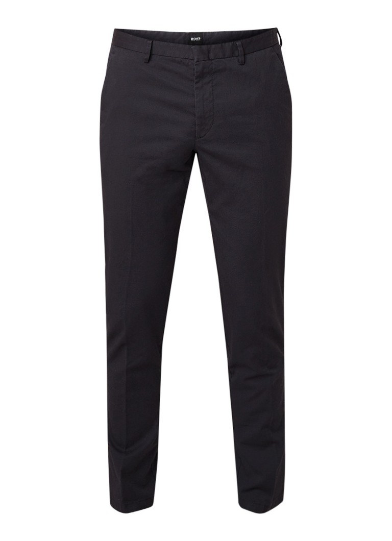 HUGO BOSS Kaito3-W slim fit pantalon met structuur en stretch