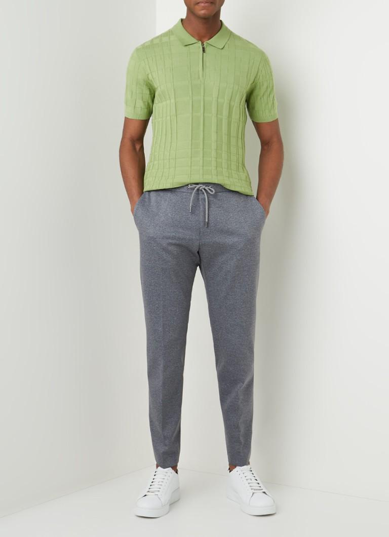 HUGO BOSS Banks4-J slim fit pantalon met steekzakken