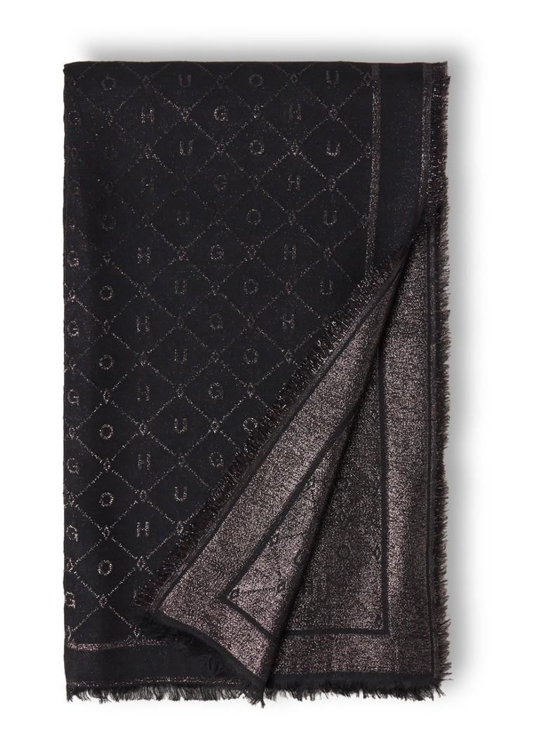 Image of HUGO BOSS Sjaal in wolblend met lurex 210 x 120 cm