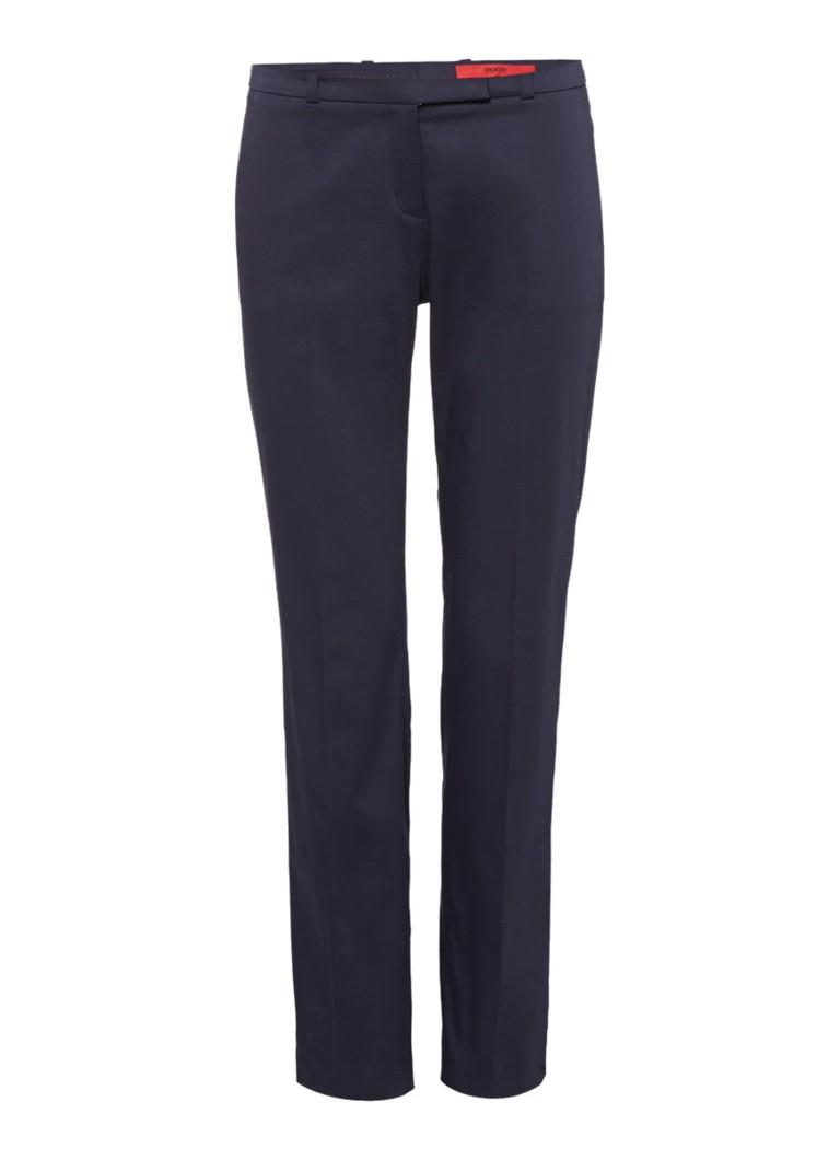 HUGO BOSS Harile3 slim fit pantalon in katoenblend