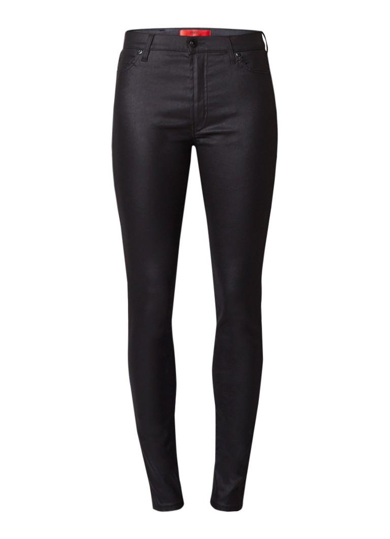 HUGO BOSS Georgina high rise super skinny jeans met coating