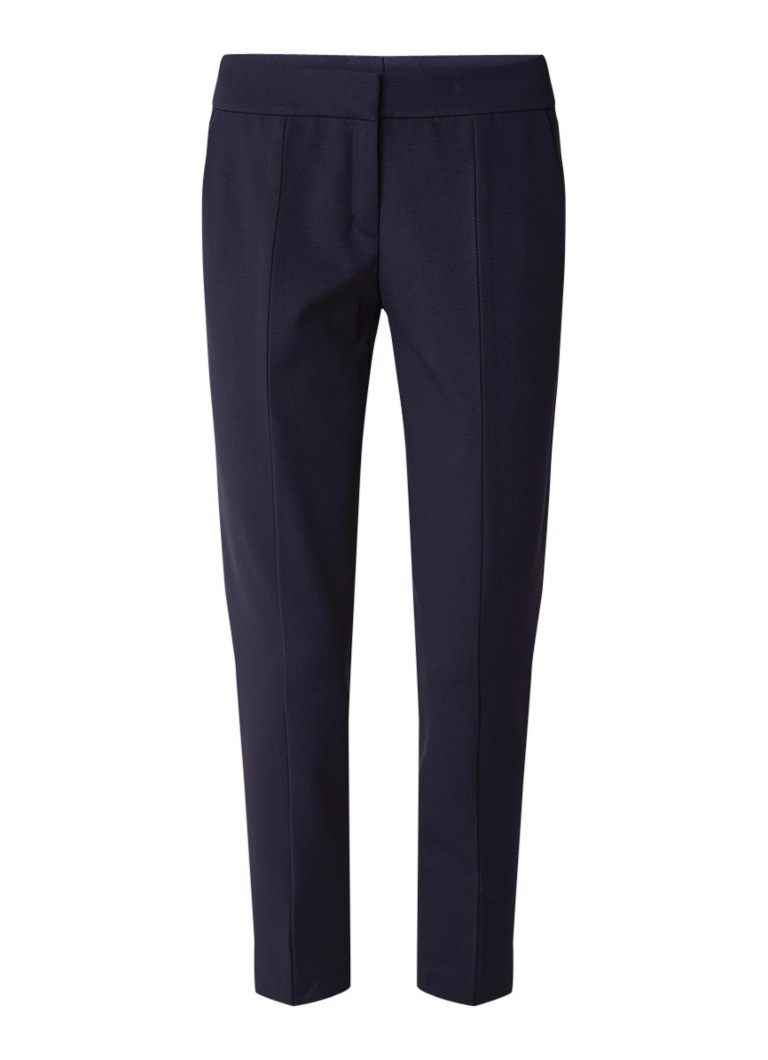HUGO BOSS Hevas cropped slim fit pantalon met stretch