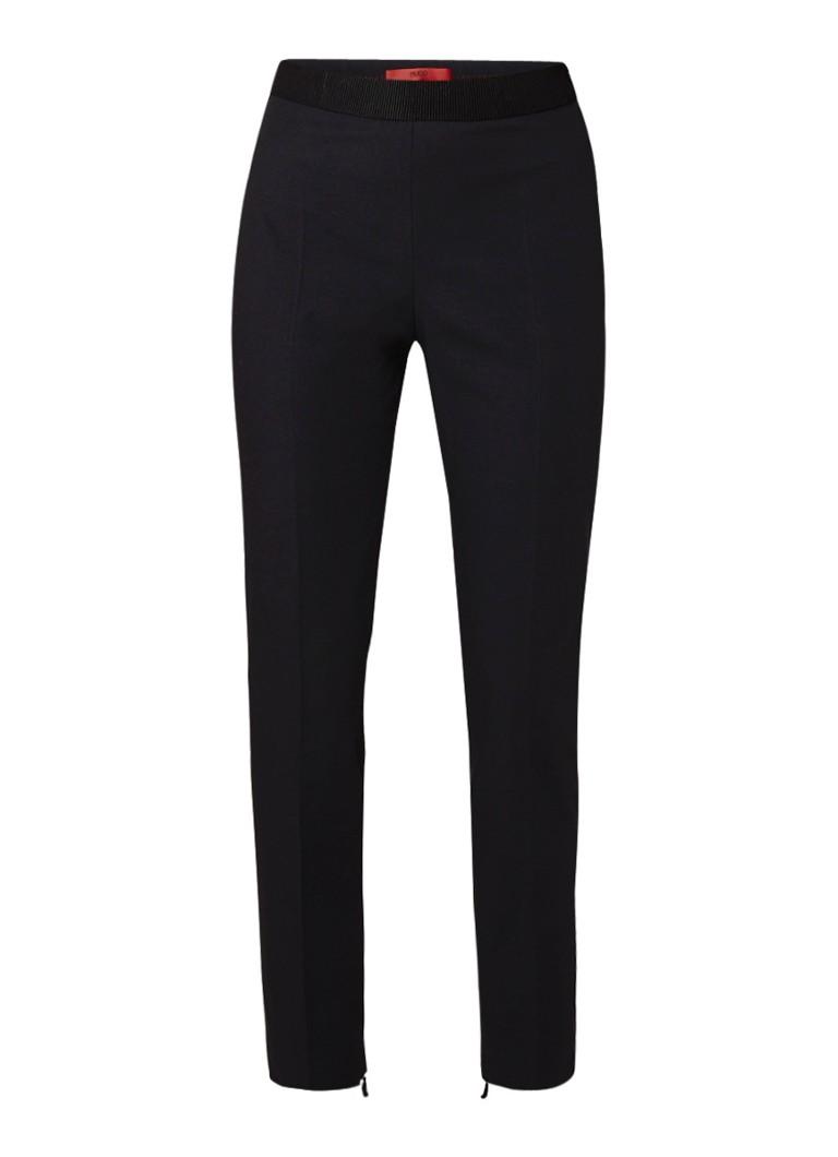 HUGO BOSS Holisa high waist cropped pantalon met persplooi