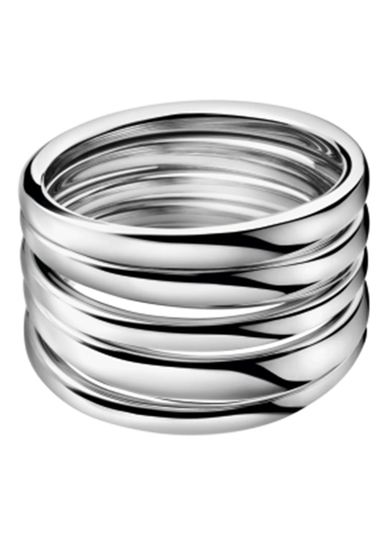 Calvin Klein Ring met gedraaid effect zilver