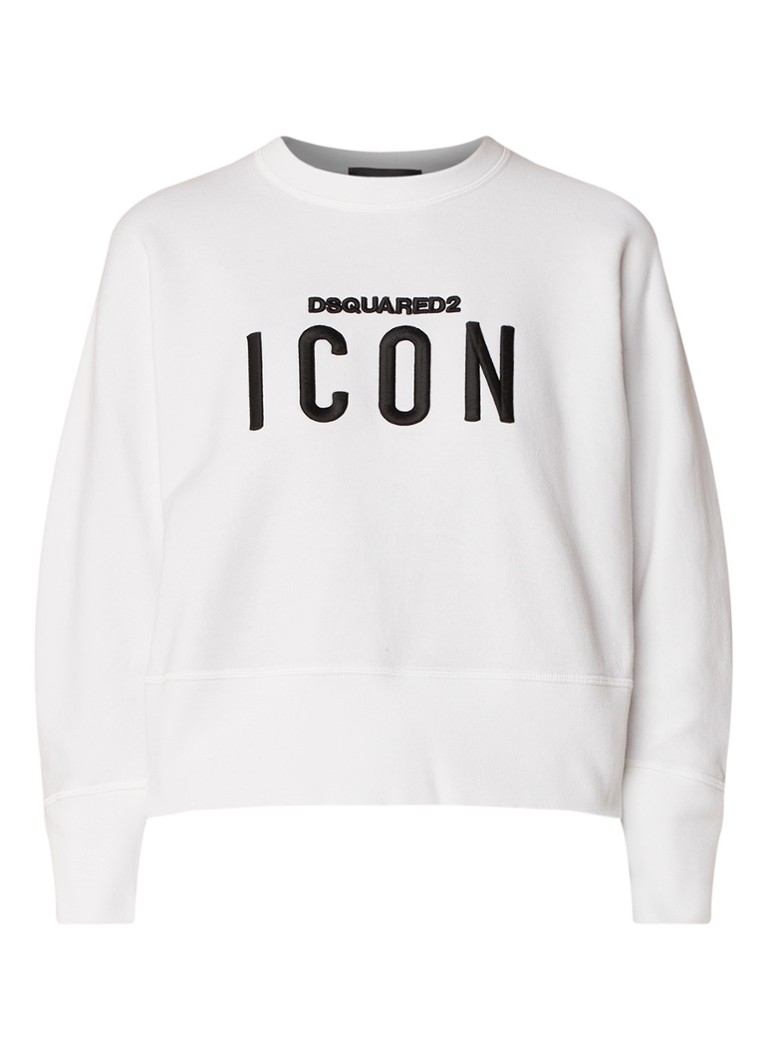 Dsquared2 Icon cropped sweater met merkborduring