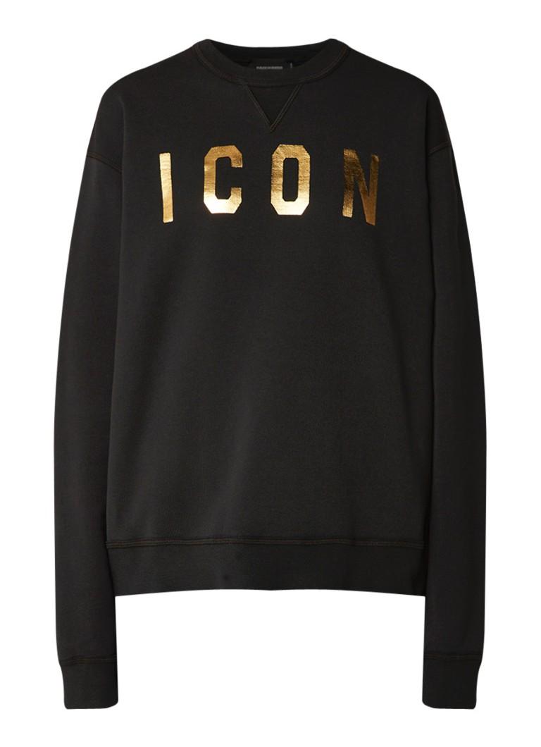 Dsquared2 Icon sweater met metallic finish