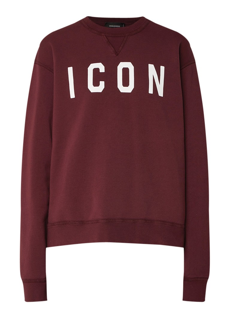 Dsquared2 Icon sweater met opdruk