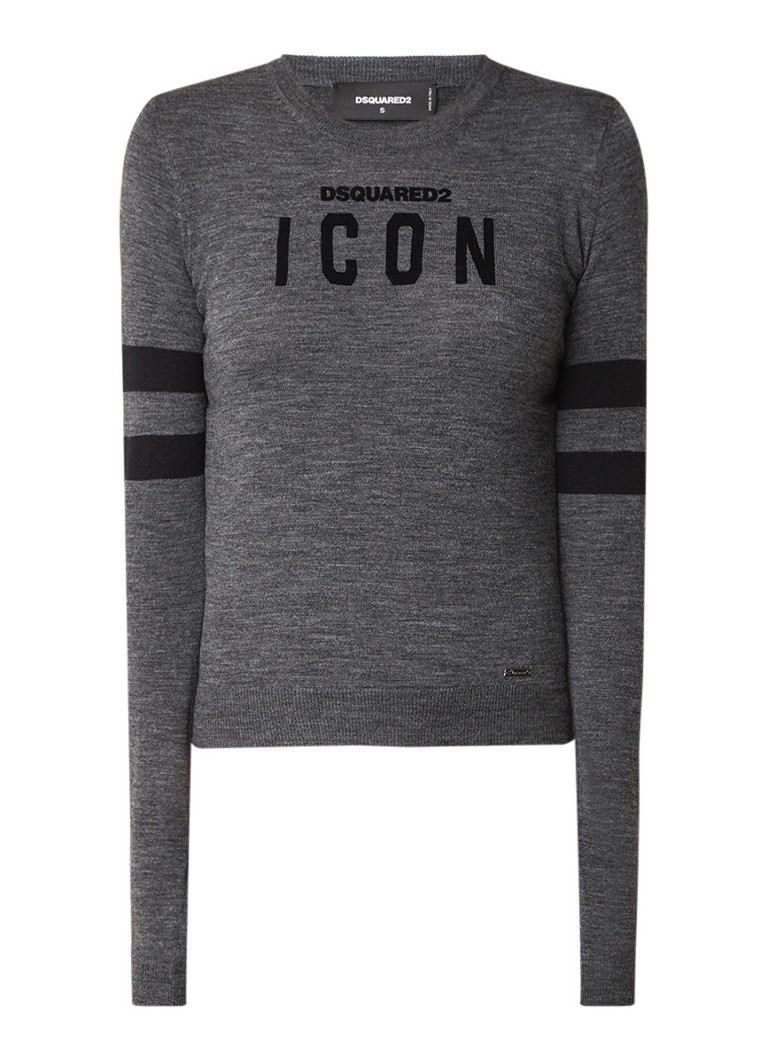 Dsquared2 Icon pullover in wolblend met merkborduring