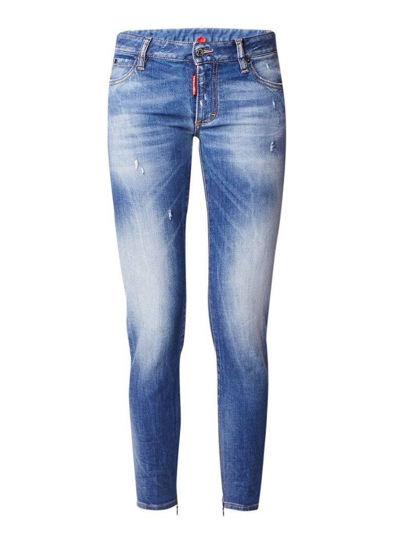Dsquared2 Twiggy skinny fit jeans met destroyed look