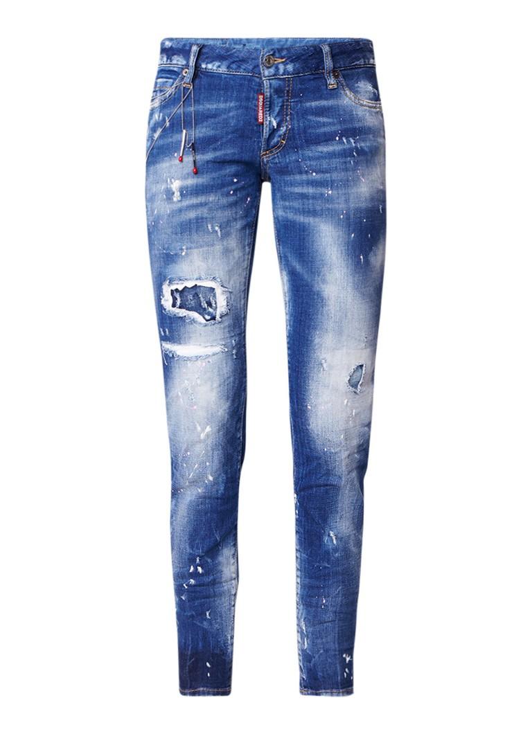 Dsquared2 Jennifer cropped slim fit jeans met destroyed look