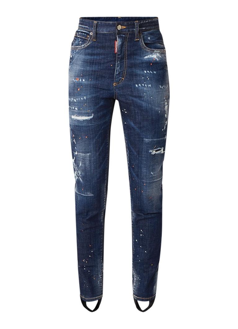 Dsquared2 High rise slim fit jeans met voetlus