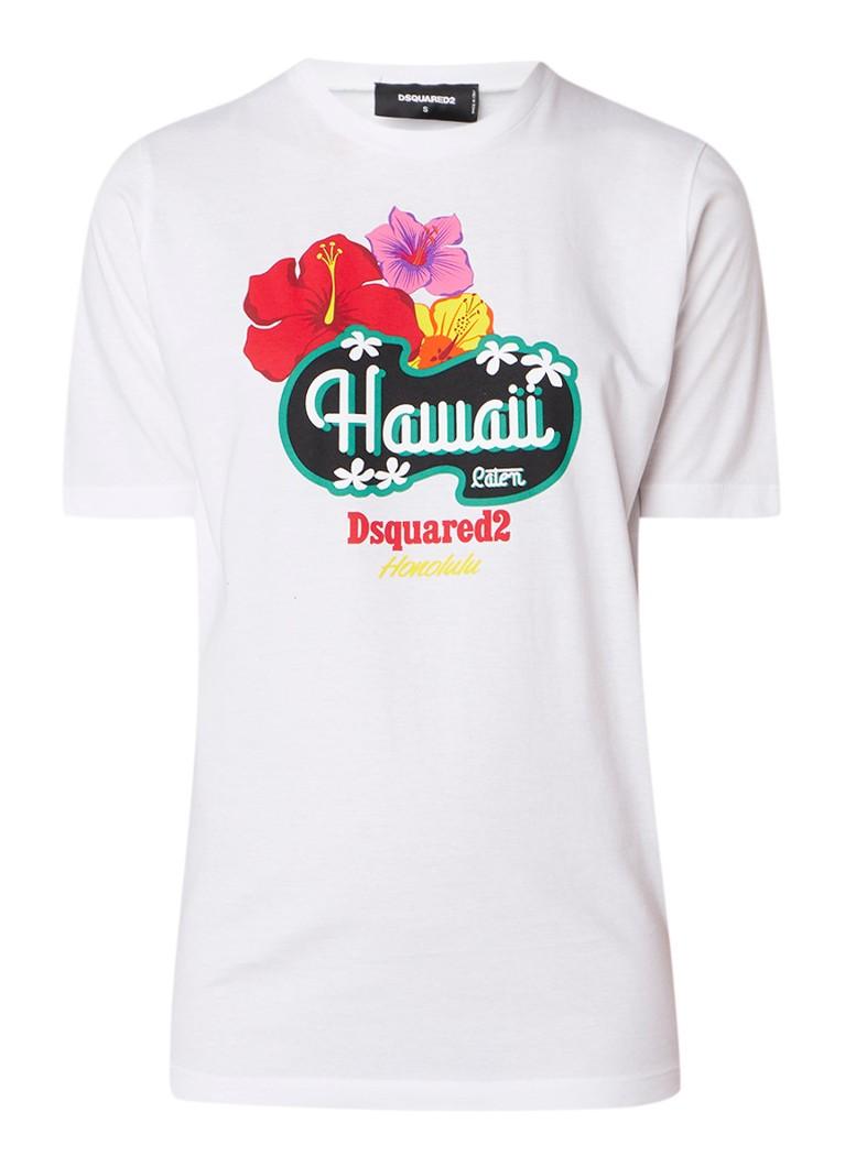 Dsquared2 Hawaii T-shirt met frontprint
