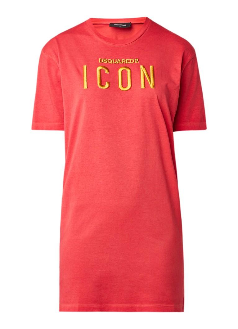 Dsquared2 Icon T-shirtjurk met merkborduring